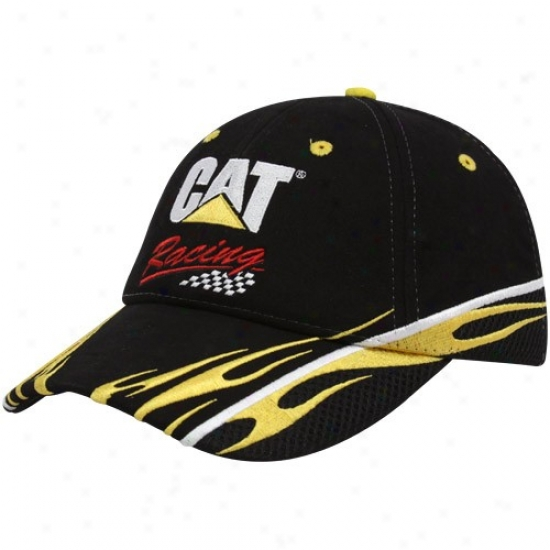 Jeff Burt0n Hats : #31 Jeff Burton Black Sponsor Adjustable Hats
