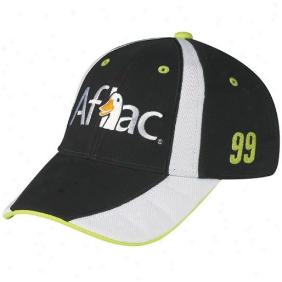 Jeff Burton Hats : #99 Jeff Burton Juvenility Black-white Adjustable Pit Hats