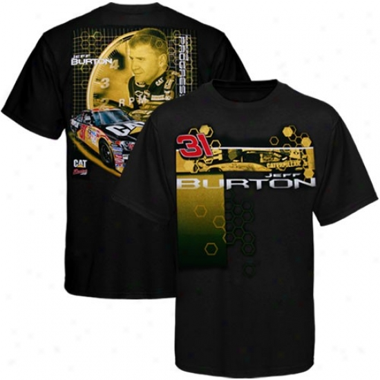 Jeff Burton Shirt : #31 Jeff Burton Black Driver Shirt