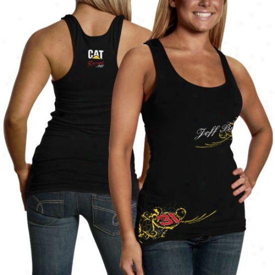 Jeff Burton Shirt : #31 Jrff Burton Ladies Black Vine Cistern Top