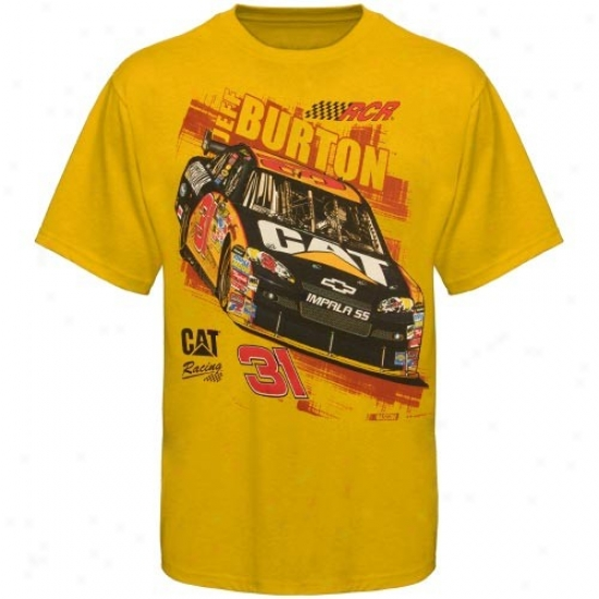 Jeff Burton Tshirt : #31 Jeff Burton Gold Chase 2 Win Tshirt