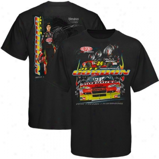 Jeff Gordon Apparel: #24 Jeff Gordon Youth Black Drive, Consecration & Determination T-shirt