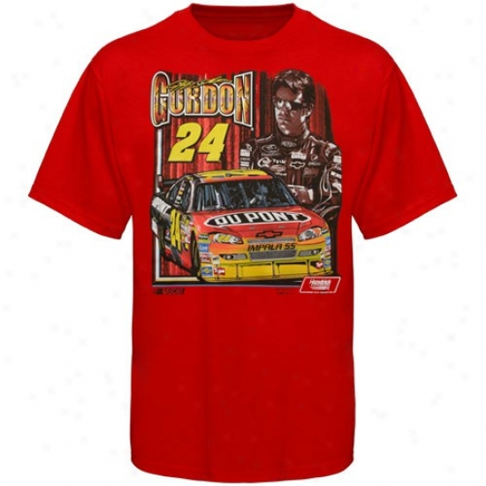 Jeff Gordon Apparel: Jeff Gordon Red Race 2 Win T-shirt