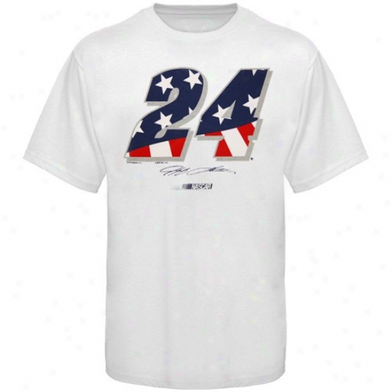 Jeff Gordon Attire: #24 Jeff Gordon White American Spirit T-shirt