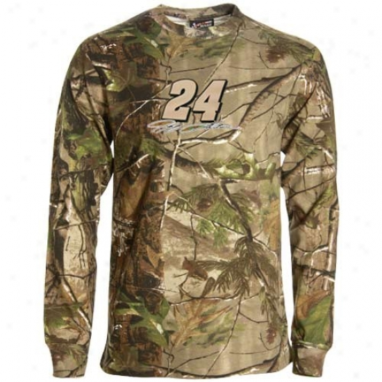 Jeff Gordon Attire: Jeff Gordo nReal Tree Camo Long Sleeve T-shirt