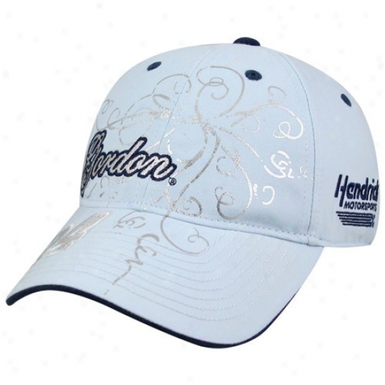 Jeff Gordon Gear: Jeff Gordon Ladies Light Blue Track Tested Adjustable Hat