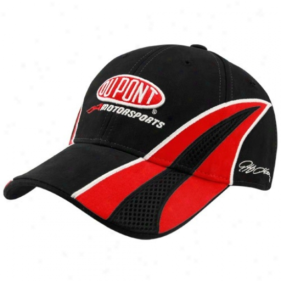 Jeff Gordon Hat : #24 Jeff Gordon Black Driver Pit Adjustable Hat
