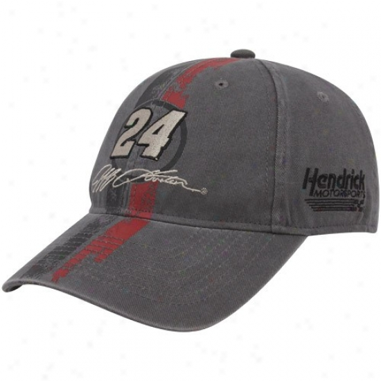 Jeff Gordon Hat : #24 Jeff Gordon Charcoal Speedway Legend Adjustable Hat