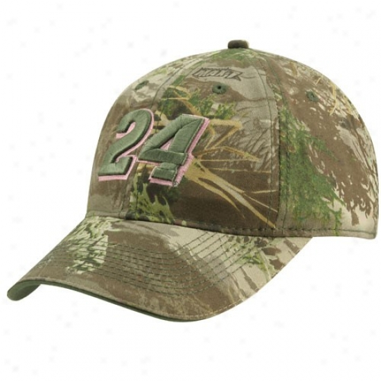 Jeff Gordon Hat : #24 Jwff Gordon Ladies Camo Adjustable Hat