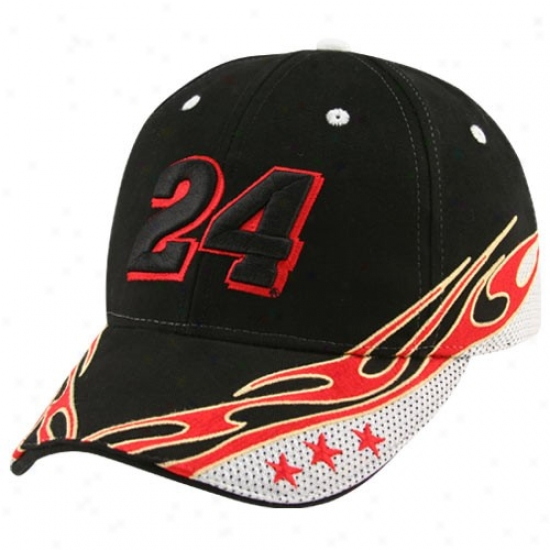 Jeff Gordon Hats : #24 Jeff Gordon Black Element Adjustable Hats