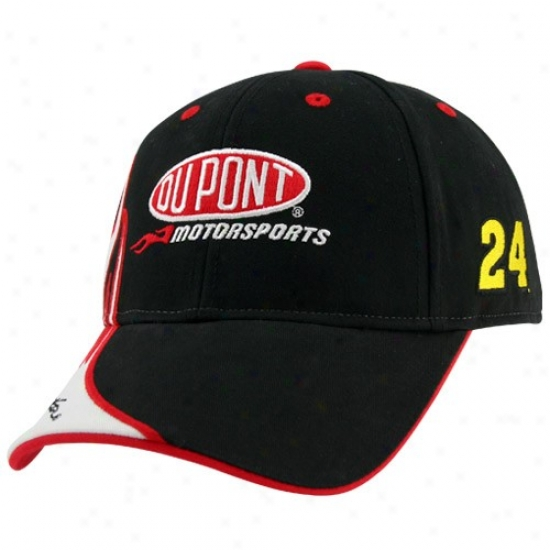 Jeff Gordon Hats : #24 Jeff Gordon Black Flammable Adjustable Hats