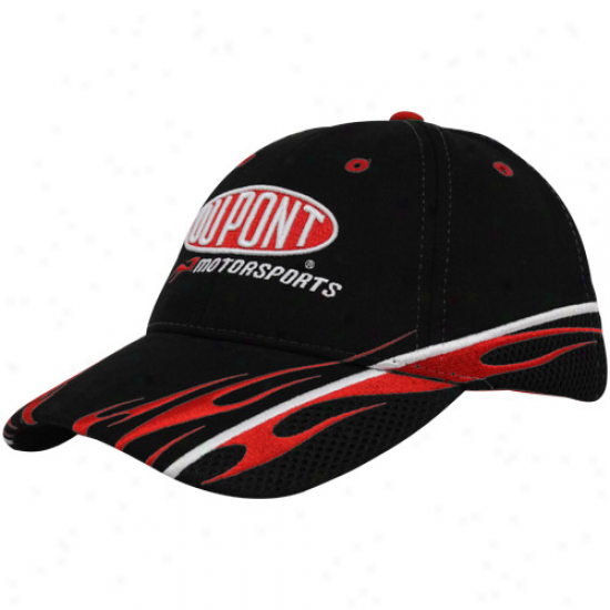 Jeff Gordon Hats : #24 Jeff Gordon Black Soonsor Adjustanle Hats