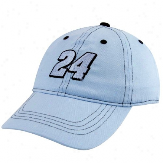 Jeff Gordon Hats : #24 Jeff Gordon Toddler Light Blue Adjustable Hats