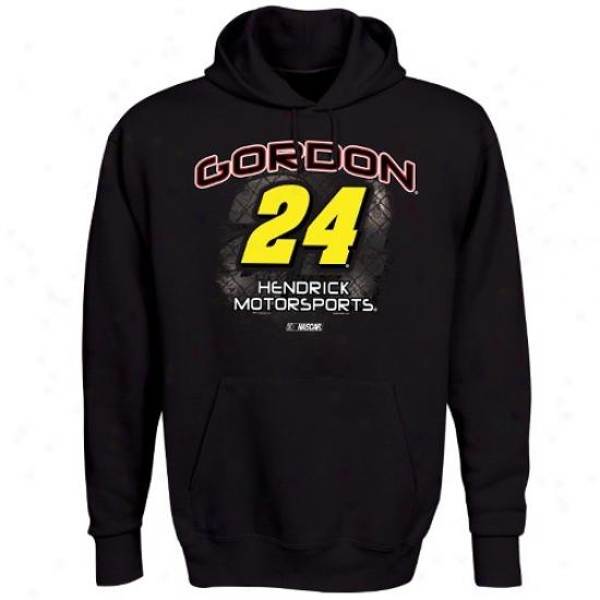 Jeff Gordon Hoodie : #24 Jeff Gordon Black Aero Push Hoodie
