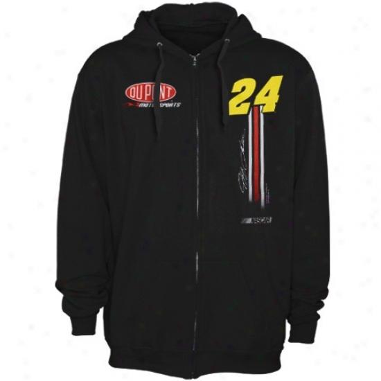 Jeff Gordon Hoodie : #24 Jeff Gordon Black Fuel Tank Full Zip Hoodie