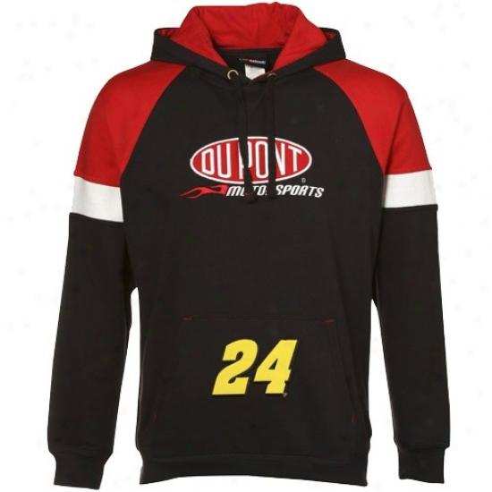 Jeff Gordon Hoody : #24 Jeff Gordon Black-red Down Force Pullover Hoody