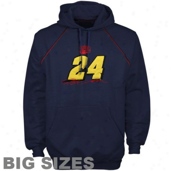 Jeff Gordon Hoody : Jeff Gordon Navy Blue Driver Preview Big Sizes Hoody