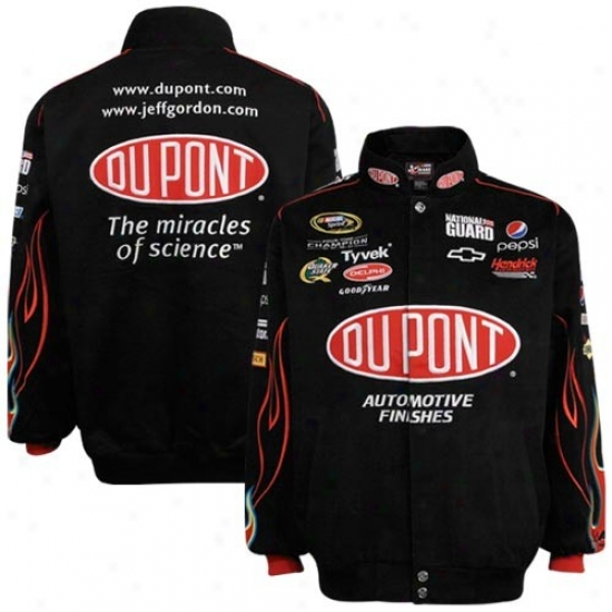 Jeff Gordon Jackets : #24 Jeff Gordon Black Twill Uniform Jackets