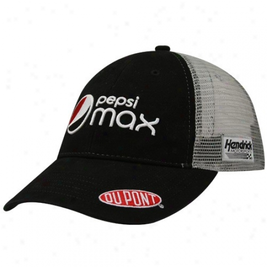 Jeff Gordon Merchandise: #24 Jeff Gordon Black-yray Pepsi Max Mesh Back Adjustable Slouch Hat