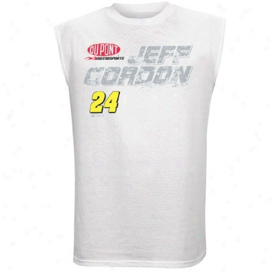 Jeff Gordon Shirt : #24 Jeff Gordon Of a ~ color Fuel Elementary corpuscle Sleeveless Shirt