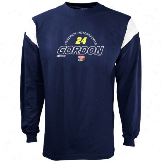 Jeff Gordon Suirt : Jeff Gordon Navy Blue Ahead Of The Rest Long Sleeve Shirt