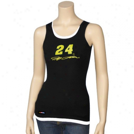 Jeff Gorson T Shirt : #24 Jeff Gordon Black Harmony Layered Tank Top