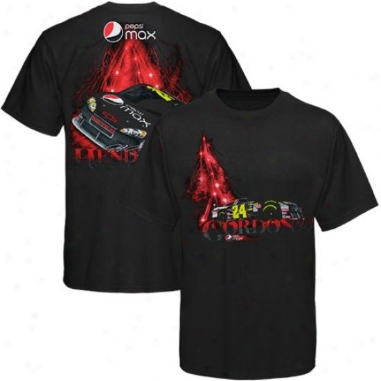 Jeff Gordon T Shirt : #24 Jeff Gordon Black Pepsi Max T Shirt