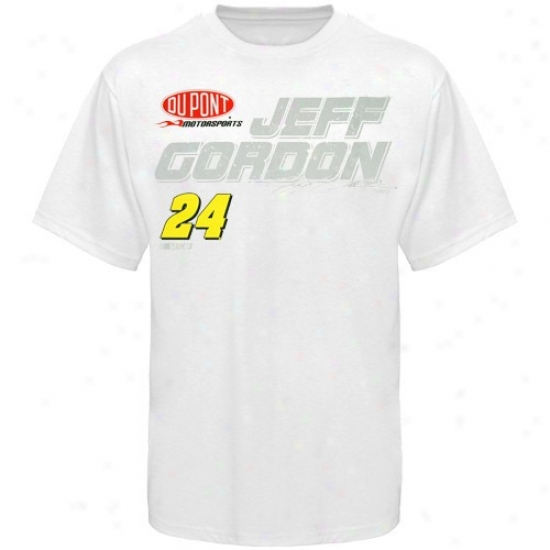 Jeff Gordon T-shirt : #24 Jeff Gordon White Fuel Cell T-shirt