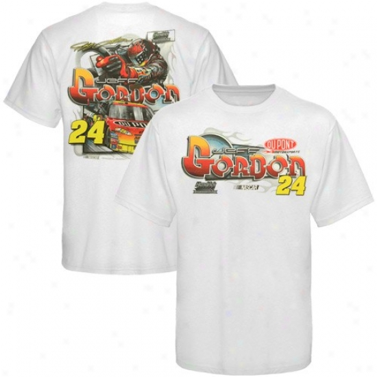 Jeff Gordln T-shirt : #24 Jeff Gordon Youth White Mechanics T-shirt