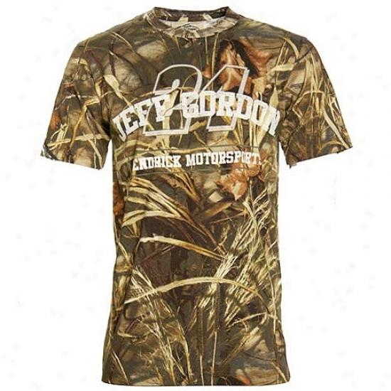 Jeff Gordon T-shirt : Jeff Gordon Real Tree Camo T-shirt