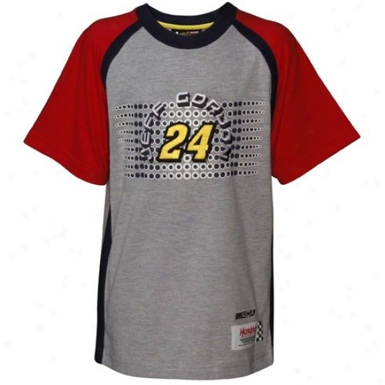 Jeff Gordon T Shirt : Jeff Gordon Youth Ash Speedway T Shirt
