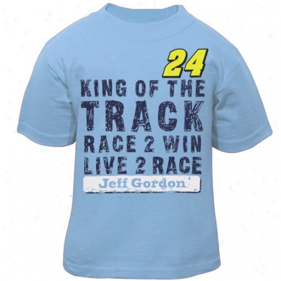 Jeff Gordon Tee : #24 Jeff Gordon Toddler Light Blue Win Tee
