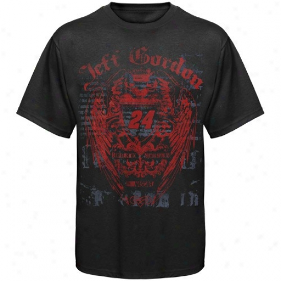 Jeff Gordon Tee : Jeff Gordon Black Monarchy Tee