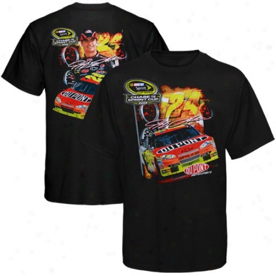 Jeff Gordon Tshirt : #24 Jeff Gordon Black Chase For The Nascarr Sprint Cup Tshirt