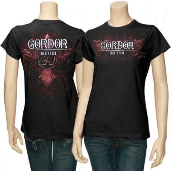Jeff Gordon Tshirt : #24 Jeff Gordon Ladies Wicked Burn Fashion Tshirt