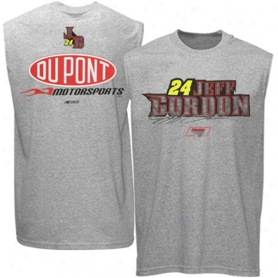Jeff Gordon Tshirt : Jeff Gordon Ash Smooth Speed Sleeveiess Tshirt