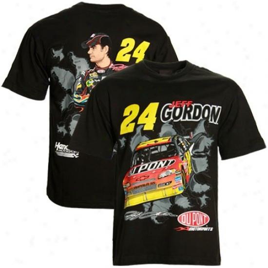 Jeff Gordon Tshirt : Jeff Gordon Black Breakout Performance Tdhirt