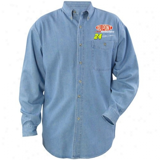 Jeff Gordon Tshirts : #24 Jeff Gordon Beyond Victory Denim Long Sleeve Tshirts
