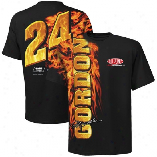 Jeff Gordon Tshirts : #24 Jeff Gordon Black Oversize Premium Tshirts