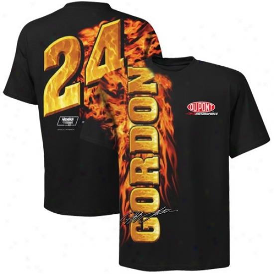 Jeff Gordon Tshirts : #24 Jeff Gordon Black Oversize Premium Tshirts