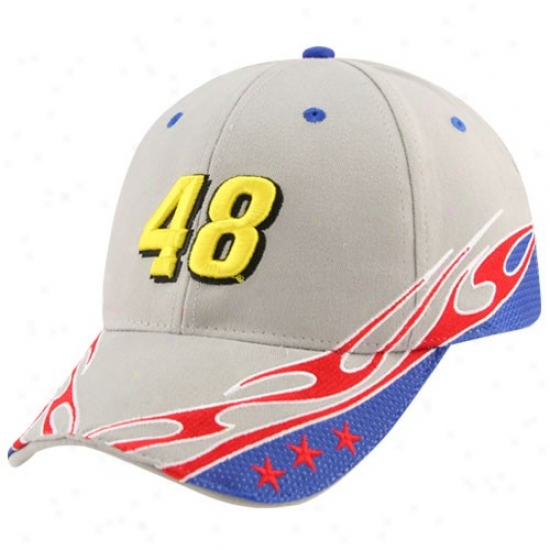 Jimmie Johnson Gear: #48 Jimmie Johnson Gray Element Adjustable Hat