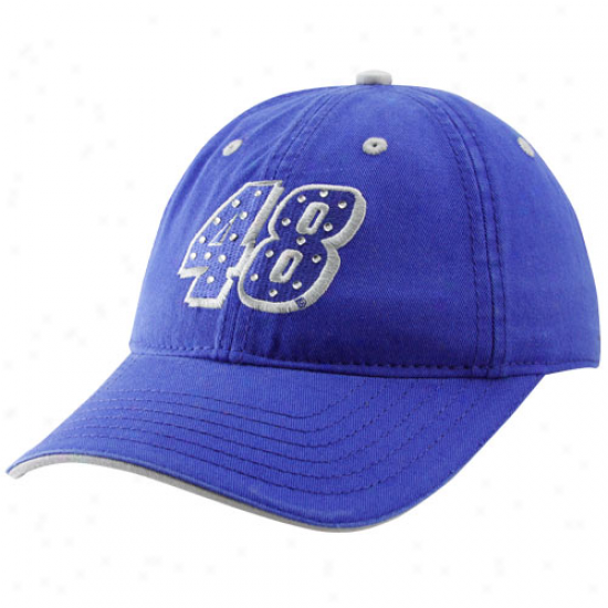 Jimmie Johnson Gear: #48 Jimmie Johnson Ladies Royal Dismal Rhinestone Adjustable Hat