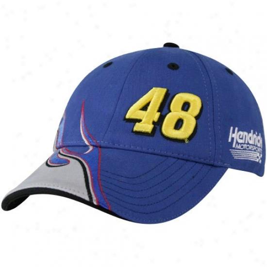 Jimmie Johnsoon Hat : #48 Jimmie Johnson Royal Blue Elementt Adjustable Hat