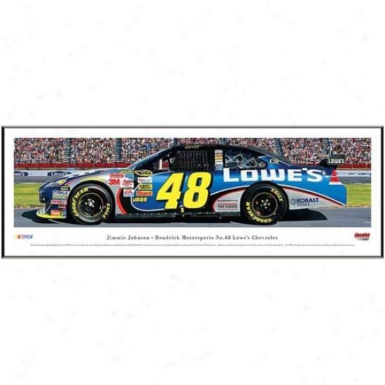 Jimmie Johnson Hendrick Motorsports #48 Lowe's Chevrolet Racecar Panoramic Print