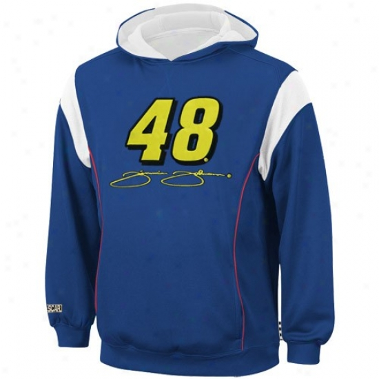 Jimmie Johnson Hoody : #48 Jimmie Johnson Youth Royal Blue Clutch Hoody