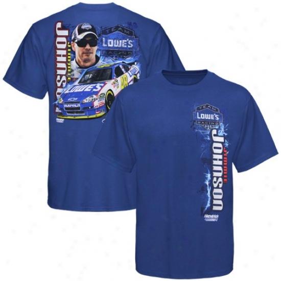 Jimmie Johnson Shirt : #48 Jimmie Johnson Royal Blue Vertical Driver Shirt