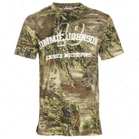 Jimmie Johnson Shirts : #48 Jimmie Johnson Real Tree Camo Shirts