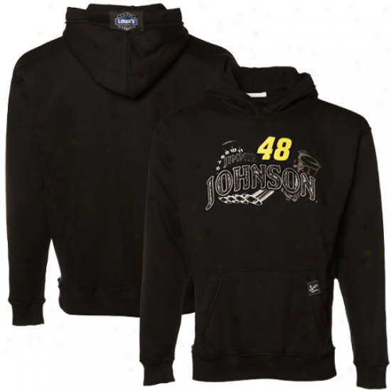 Jimmie Johnson Stuff: #48 Jimmie Johnson Youth Black Race Day Pullover Hoody Sweatshirt