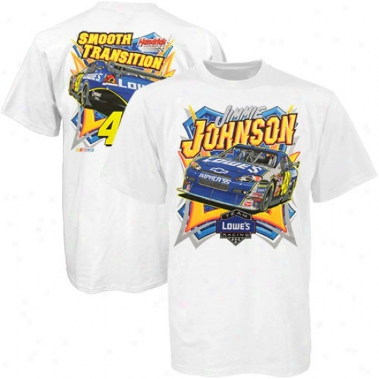 Jimmie Johnson T Shirt : #48 Jimmie Jonhson White End Of Season T Shirt