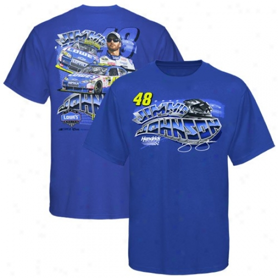 Jimmie Johnsom T-shirt : #48 Jimmie Johnson Youth Royal Azure Drkver T-shirt